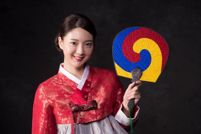 韓国美人女性
