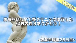 終了!勇気を持って上野クリニックに行った過去の自分ありがとう!包茎手術後28日目ブログ日記