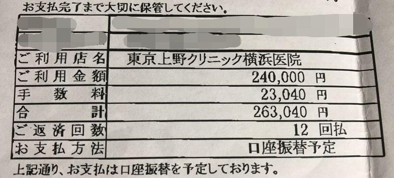 上野クリニック包茎治療ローン
