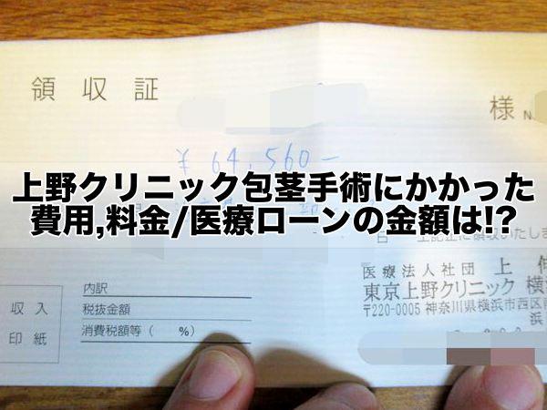 上野クリニック包茎手術にかかった費用,料金:医療ローンの金額は!?